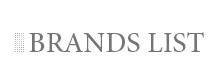 BRANDS LIST